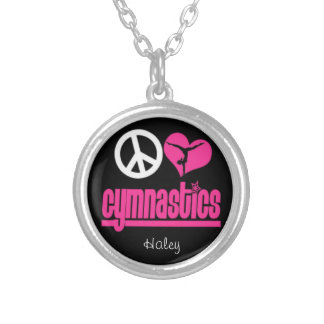 Adorable gymnastics necklace personalized