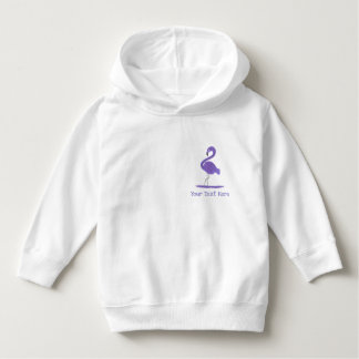Adorable Hand-Painted Purple Flamingos with Flair Hoodie