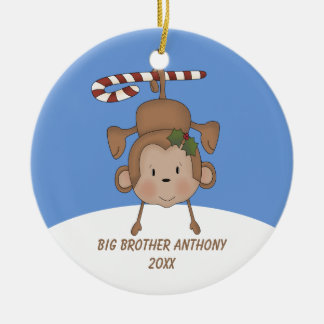 Adorable Hanging Monkey Big Brother Ornament