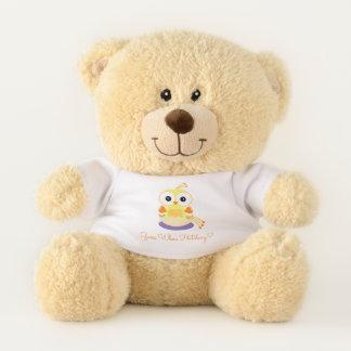 Adorable Hatching Yellow Bird Gender Reveal Teddy Bear
