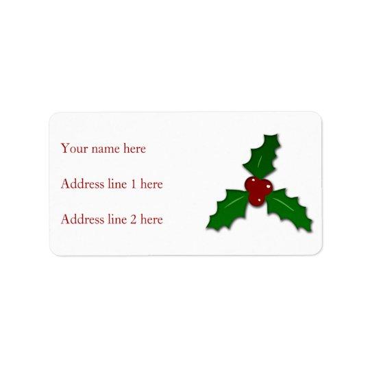 Adorable Holy twig Christmas Address Label
