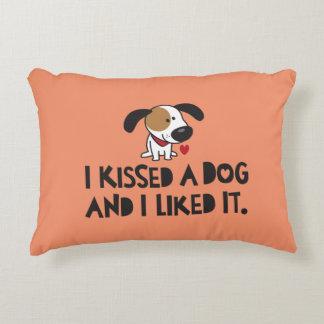 Adorable I Kissed a Dog and I Liked It Decorative Cushion