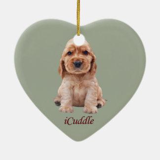Adorable iCuddle Cocker Spaniel Ceramic Ornament
