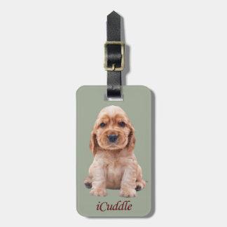 Adorable iCuddle Cocker Spaniel Luggage Tag