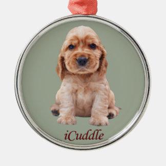 Adorable iCuddle Cocker Spaniel Metal Ornament