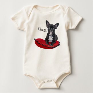 Adorable iCuddle French Bulldog Baby Bodysuit