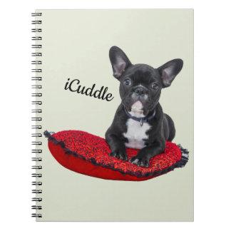 Adorable iCuddle French Bulldog Notebooks