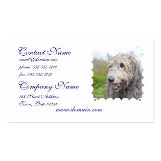 Adorable Irish Wolfhound Business Cards