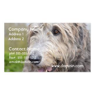 Adorable Irish Wolfhound Business Card Template