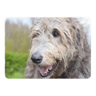 Adorable Irish Wolfhound 13 Cm X 18 Cm Invitation Card