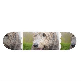 Adorable Irish Wolfhound Skate Board Deck