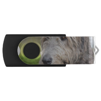Adorable Irish Wolfhound Swivel USB 2.0 Flash Drive