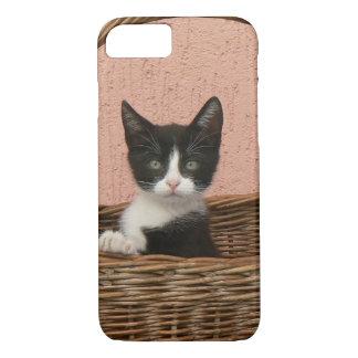 Adorable kitten in basket iPhone 7 case
