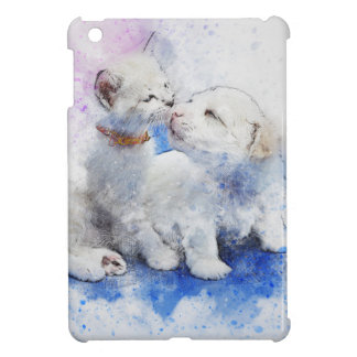 Adorable Kitten & Labrador Puppy Kiss Cover For The iPad Mini