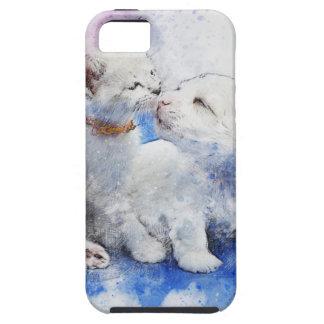 Adorable Kitten & Labrador Puppy Kiss Tough iPhone 5 Case