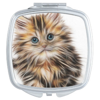 Adorable Kitten Painting Compact Mirror