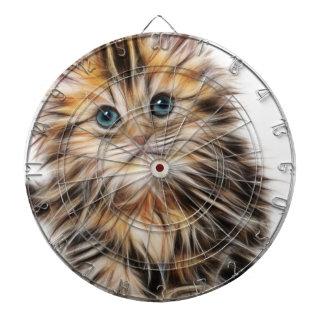 Adorable Kitten Painting Dart Board