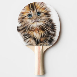 Adorable Kitten Painting Ping Pong Paddle