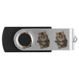 Adorable Kitten Painting Swivel USB 3.0 Flash Drive