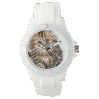 Adorable Kitten Painting Watch