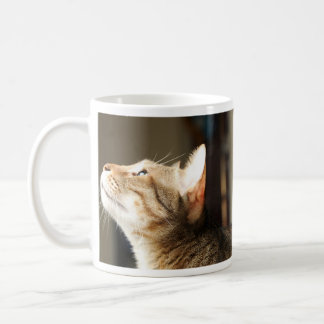 Adorable Kitten Waiting for Her Coffee Coffee Mug
