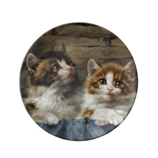 Adorable Kittens Decorative Porcelain Plate