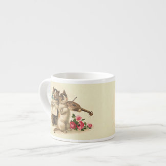 Adorable Kittens sing and Play Violin Espresso Cup