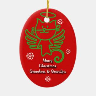 Adorable Kitty Angel Grandparent ornament
