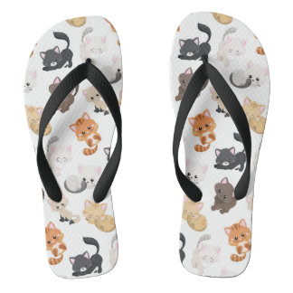 Adorable Kitty Cats Print Thongs