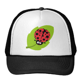 Adorable Ladybug on a Leaf Cap