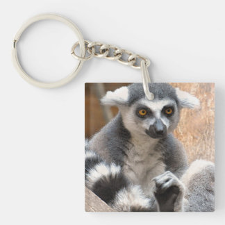 Adorable Lemur Key Ring