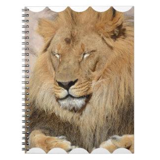 Adorable Lion Spiral Notebook