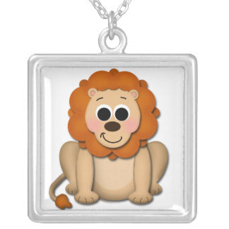 Adorable Lion Sterling Silver Necklace
