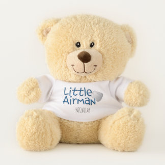 """Adorable """"Little Airman"""" Personalized Teddy Bear"""
