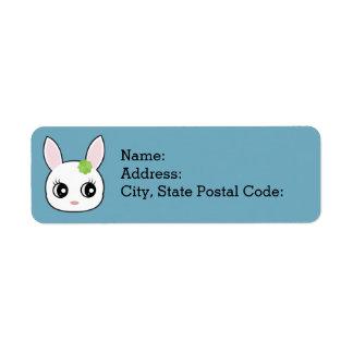 Adorable little bunny face return address label