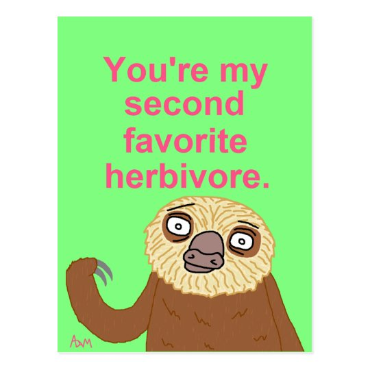 Adorable Little Herbivore Postcard