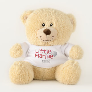 """Adorable """"Little Marine"""" Personalized Teddy Bear"""