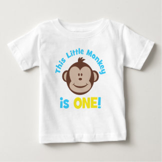 Adorable Little Mod Monkey Boys 1st Birthday Shirt