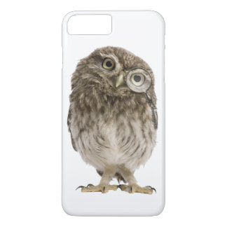 Adorable little owl wearing magnifying glass iPhone 8 plus/7 plus case