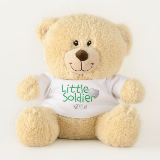 """Adorable """"Little Soldier"""" Personalized Teddy Bear"""