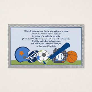Adorable Little Sports Player Book Request Cards