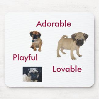 Adorable, Lovable, Playful Puggle Mousepad