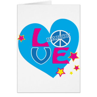 Adorable Love to Dance Shirts for Girls and Women Greeting Card