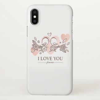 Adorable Lovebirds In Love   iPhone X Case