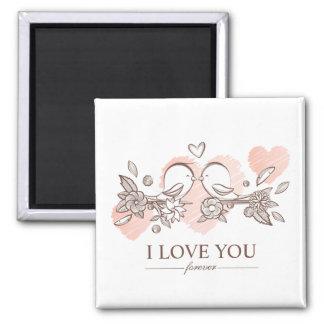 Adorable Lovebirds In Love Valentine | Magnet