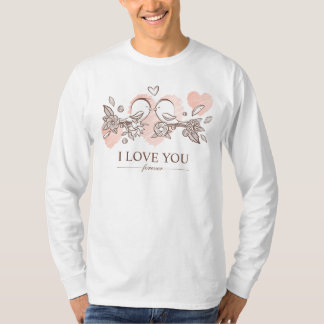 Adorable Lovebirds In Love Valentine Sleeve Shirt