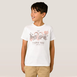 Adorable Lovebirds In Love Valentine Tagless Shirt