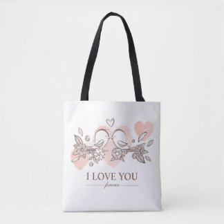 Adorable Lovebirds In Love Valentine Tote Bag