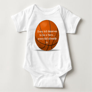 Adorable, loving basketball romper baby bodysuit