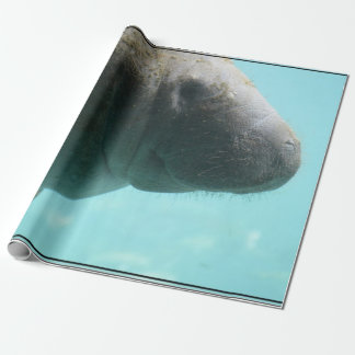 Adorable Manatee Swimming Wrapping Paper